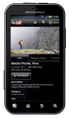 "Motorola Defy+ - Smartphone libre Android (pantalla 3.7"", cámara 5 Mp, 2 GB, 1 GHz, 512 MB RAM), negro [importado]"