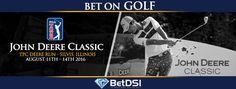 2016 John Deere Classic Golf Lines Golf Events, Golf Betting, Golf Pga, Classic Golf, Quad Cities, Illinois, Vintage Golf
