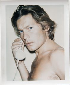 Call me / A Polaroid of Helmut Berger by Andy Warhol Helmut Berger, Andy Warhol Photography, Andy Warhol Portraits, Pittsburgh, Pop Art, Star Wars, Famous Photographers, Movie Stars, Sexy