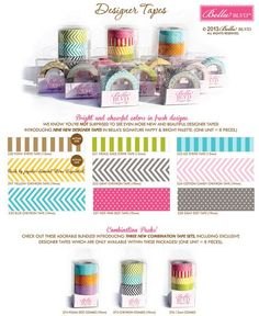 Love these washi designs from Bella Blvd. Perfect for that washi dispenser I've got my eye on! DESIGNER TAPES