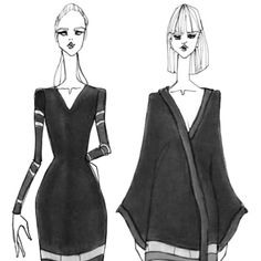ISSA GRIMM Concept sketches Fashion illustration