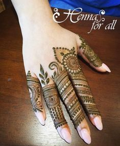 Simple Mehendi designs to kick start the ceremonial fun. If complex & elaborate henna patterns are a bit too much for you, then check out these simple Mehendi designs. Finger Mehendi Designs, Basic Mehndi Designs, Henna Tattoo Designs Simple, Latest Bridal Mehndi Designs, Henna Art Designs, Mehndi Design Pictures, Mehndi Designs For Beginners, Mehndi Designs For Fingers, Beautiful Henna Designs
