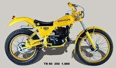 1980 Ossa 350cc Trials Bike.