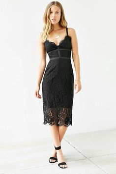 Keepsake Interlude Lace Bodycon Dress