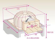 Implantation classique du four à bois Le Panyol 66