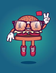 Burger guy! by Levi Strauss, via Behance