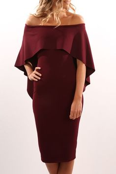Composure Midi Dress Wine