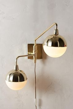 Anthropologie Anchored Orb Two-Arm Sconce