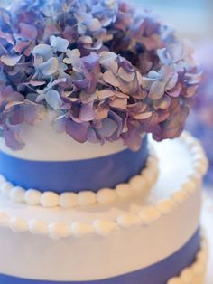Lavender Hydrangea Cake Top