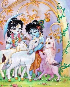 Krishna Balaram by Amrita Gauri Krishna Hindu, Krishna Leela, Cute Krishna, Jai Shree Krishna, Radha Krishna Photo, Krishna Radha, Shree Krishna Wallpapers, Radha Krishna Wallpaper, Lord Krishna Images
