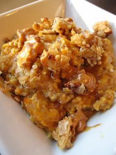 Oatmeal with a crumbled KIND bar