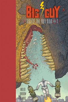"""biggoonie: """"The Big Guy And Rusty The Boy Robot Second Edition HC by Geof Darrow The Big Guy and Rusty the Boy Robot Second Edition HC Frank Miller (W), Geof Darrow (W/A/Cover), and Dave Stewart © On sale Oct 7 FC, 88 pages $19.99 HC, 8"""" x 12"""" Front..."""