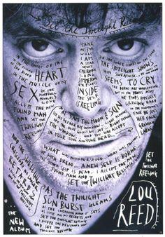 #loureed #poster