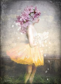 Catrin Welz-Stein: Yellow Dress and Flowers