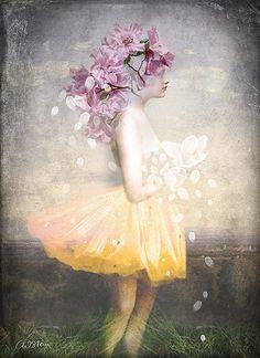 Catrin Welz-Stein: Yellow Dress and Flowers