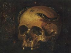 View A vanitas still life with a skull, a snake and a clock by Antonio de Pereda y Saldago on artnet. Browse upcoming and past auction lots by Antonio de Pereda y Saldago. Snake Painting, Skull Painting, Medieval Paintings, Macabre Art, A Level Art, Nature Aesthetic, Painting Still Life, Color Pencil Art, Kunst