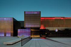 platform of arts and creativity : Pitagoras Group . Light . night . Dinamic Facade