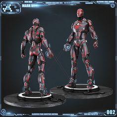 Iron Man Mark 51 Prototype Seems like a deadpool suit.