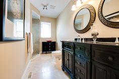 Vanity, Spaces, Mirror, Bathroom, Furniture, Home Decor, Painted Makeup Vanity, Washroom, Homemade Home Decor