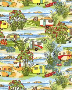 New Zealand Import - Retro Holidays - Beach Campers - Multi