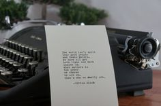Harry Potter Quote (Sirius Black Quote) Typed on Typewriter - 4x6 White Cardstock