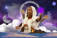 The divine feminine energy of creation. Based on the first chapter of Credo Mutwa's book; Indaba My Children Feminine Energy, Divine Feminine, Black Girl Art, Art Girl, My Children, Disney Characters, Fictional Characters, Behance, Disney Princess