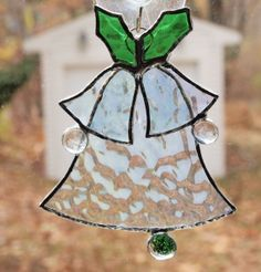 Stained Glass Christmas Bells