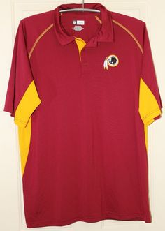 NFL Team Apparel Washington Redskins Mens Polo Shirt Size 2XL Football Fan   NFLTeamApparel  PoloRugby b223b58ba