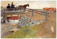 The bridge, 1896, Carl Larsson