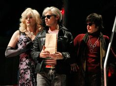 Actor Brian Charles Rooney (left) femulating as Candy Darling in Pop!a 2010 musical performed at the Yale Repertory Theatre, New Haven.