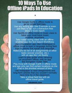 10 Great Tips on Using iPad Offline ~ Educational Technology and Mobile Learning