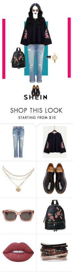 """Comfy Black Floral Style"" by nello-hope on Polyvore featuring Current/Elliott, Dr. Martens, Christian Dior, Urban Expressions, Effy Jewelry, Michael Kors and shein"