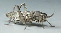 Articulated Jizai Okimono of a Katydid