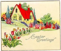 Cottage...  Easter Greetings