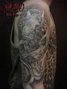 Tattoo (Genbu) | north-blood #tattoo #blackandgrey #chicano #chicanotattoo