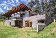 Best Design News ecuador-los-chillos-house Stacked Blocks: Glass-Top Stone-Base Home in Ecuador Hills Interior Design  StoneBase Stacked Home Hills GlassTop Ecuador Blocks