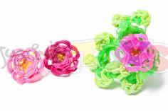 Rainbow Loom Flower Bracelet tutorial Part 1