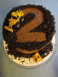 Boy Second Birthday Ideas Awesome Construction Cake if We Ever Have A Boy We Wil. Boy Second Birthday Ideas Awesome Construction Cake if We Ever Have A Boy We Will Have to Do Truck Birthday Cakes, Digger Birthday Cake, 2nd Birthday Cake Boy, Easy Kids Birthday Cakes, Birthday Woman, Third Birthday, 3 Year Old Birthday Party Boy, Birthday Desserts, 2nd Birthday Cakes For Boys