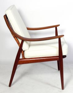 Pair of Danish Modern Lounge Chairs by Peter Hvidt and Orla Molgaard Nielsen 2