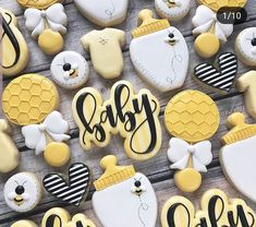 Mommy to bee baby shower theme Gender Reveal Cookies, Baby Gender Reveal Party, Gender Neutral Baby Shower, Baby Reveal Cakes, Bee Gender Reveal, Bee Cookies, Sugar Cookies, Flower Cookies, Heart Cookies