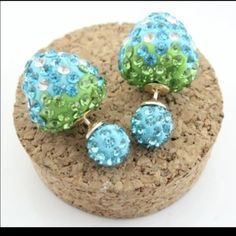 Sky blue berry double sided earrings Super cute earrings $8.00 a pair! Ask me about bundle deals!  NO TRADES and PRICE IS FIRM unless bundling!! Happy Poshing ❤️ Jewelry Earrings