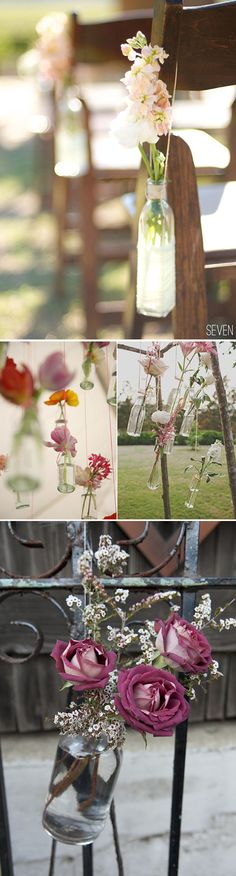 Botellitas de cristal para decorar tu boda
