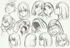 Drawing Cartoon Faces Facial Expressions Character Design 20 New Ideas Drawing Cartoon Faces, Manga Drawing, Drawing Sketches, Drawing Expressions, Facial Expressions, Art Reference Poses, Anime Sketch, Character Design References, Character Drawing