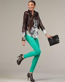 Rag & Bone Kelly Green Jeans- yes please!