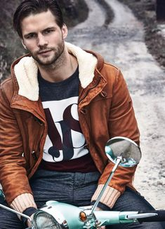 Czech Model Tomas Skoloudik for the Armani Jeans Fall Winter 2014-2015 Catalogue photographed by David McKnight
