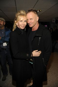 Sting and his wife Trudie Styler