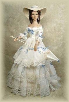 Empress Eugenia of France by Cheryl Crawford of Crawford Manor Dolls (Eugenia Maria Ignacia Augustina Palafox de Guzmán Portocarrero y Kirkpatrick de Closeburn) Victorian Dolls, Antique Dolls, Vintage Dolls, Pretty Dolls, Cute Dolls, Beautiful Dolls, Barbie Dress, Barbie Clothes, Barbie Doll
