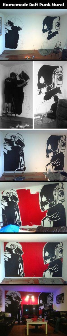 Homemade Daft Punk Mural. YESYESYESYESYESYESYESYESYESYESYESYESYES