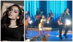 Anitta chama ao palco menino que viralizou dançando suas músicas