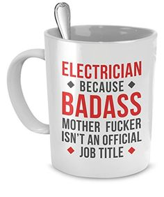Mug Electrician gifts Electrician mug - Badass Electricia...…